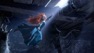 red hair, scotland, Brave, film, princess, the movie, bear, pixar, merida, disney