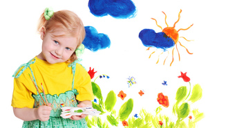 drawing, draw, pretty, Little girl, artist, cute, colors, happiness, blue eyes, beautiful, lovely