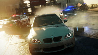 Nfs most wanted 2012, дорога, полиция, bmw