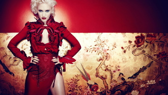 gwen stefani, red dress, girl, no doubt, Гвен стефани, певица
