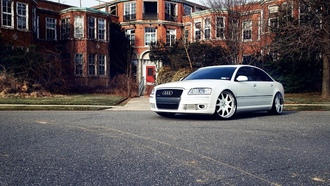 a8, audi a8, Auto, white, tuning auto, wallpapers auto, tuning cars, audi, обои авто, cars