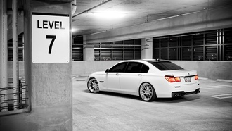 city, 7series, 750li, остановка, Auto, parking, white, cars, bmw, cтоянка
