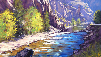 рисунок, Арт, colorado river, artsaus