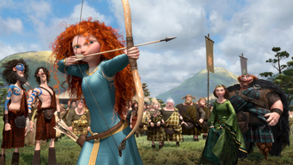 princess, disney, archer, Brave, king, pixar, queen, scotland, the movie, bow competition, film