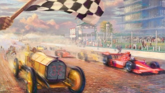 race, thomas kinkade, гонки, томас кинкейд, A century of racing, живопись