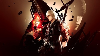 dmc, nero, Devil may cry 4, syan jin, blue rose, artwork, devil bringer, nero returns, red queen