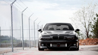 автомобиль, vossen, wallpapers, Car, tuning, bummer, black, m5, обоя, e39, auto, bmw