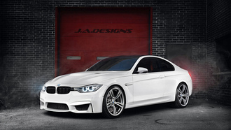 Bmw, m4, 2015 coupe, f82, concept car, by j.a.designs, white