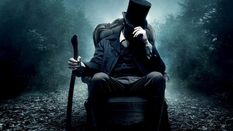 цилиндр, топор, кресло, vampire hunter, Abraham lincoln