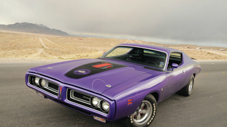 muscle car, додж, 1971, дорога, wallpapers, super bee, пейзаж, dodge, обои