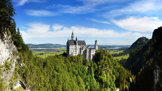 bavarian alps, замок нойшванштайн, germany, Neuschwanstein castle