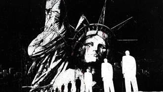 statue of liberty, Alex cherry, гранж, grunge, abstract, статуя свободы, artwork