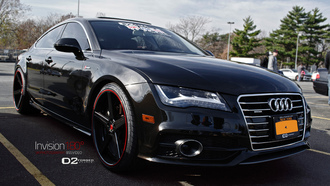 black, Audi a7, with deep concave cv2 wheels by d2forged