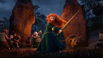 pixar, princess, warrior, the movie, red hair, archer, bear, Brave, film, disney, scotland, merida