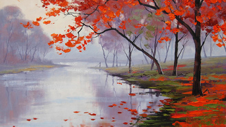 lake side colors, рисунок, artsaus, Арт