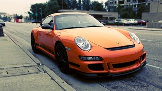Auto, gt3, стоянка, orange, rs, сity, cars, porshe, porshe gt3 rs, parking