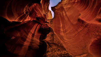 Природа, текстура, каньон, пещера, скалы, antelope canyon, небо