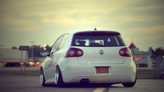 golf, white, tuning auto, Auto, vw, city, дорога, tuning cars, cars, volkswagen