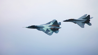 T-50 and mig-29m2, т-50, миг-29м2