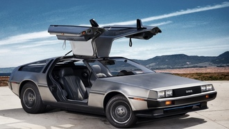 dmc-12, ev, Delorean, prototype 2011, передок, двери, делориан