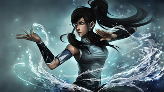 глаза, avatar the legend of korra, Арт, korra, ninjatic, девушка, вода