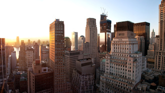new york, нью-йорк, united states, sunset, new york city, Lower manhattan, закат, nyc