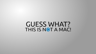 минимализм, Guess what this is not a mac!, minimalism, надпись, слова