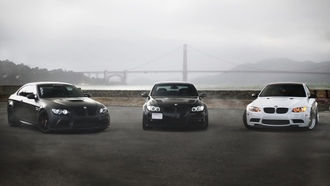 black, e90, e92, m3, 330i, golden gate, white, bmw, matte black
