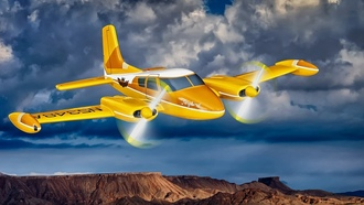 Cessna 310-B, Cessna 310- B,Songbird, самолеты, Sky King, airplanes, The Songbird