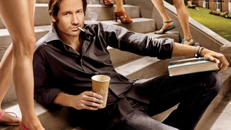 лестницы, книги, stairways, Californication, сигареты, David Duchovny, Дэвид Духовны, cigarettes, books