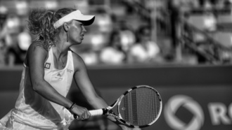 Caroline Wozniacki, монохромный, monochrome, tennis players, Каролин Возняцки, теннисисты