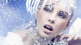 зима, make up, faces, женщины, crystals, лица, снег, модели, кристаллы, snow, Ice Queen, models, women, составляют, winter