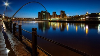 millennium bridge, england, quayside, newcastle upon tyne