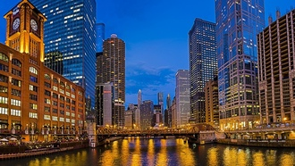 illinois, la salle street bridge, new eastside, usa, chicago