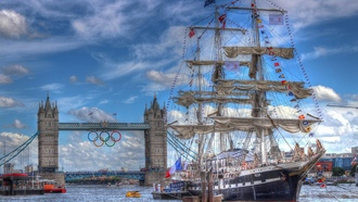 парусники, Лондон, London, олимпийский 2012, sailboats, HDR photography, HDR фотографии, Olympic 2012