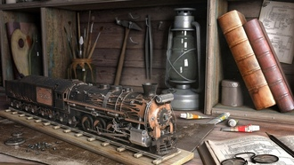 Миниатюрная, miniature, steam locomotives, паровозы