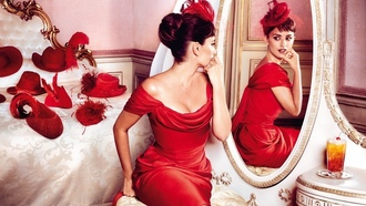 red, красный, women, Penelope Cruz, женщины, Пенелопа Крус