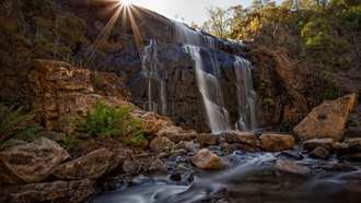 mckenzies fall, пейзаж, водопад, grampians national park