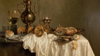 willem claesz, breakfast with a lobster, heda, лобстер