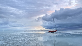 мель, england, southend-on-sea, лодка, thorpe bay