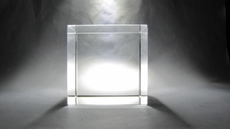 light, glass, cube