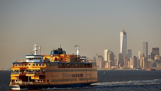 manhattan, nyc, паром, upper new york bay, new york city