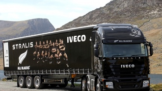 tractor truck, other, truck, iveco, black