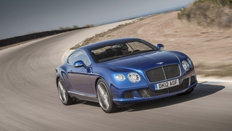 blue, синий, cars, Bentley Continental GT, street, автомобили, улица, Bentley Continental