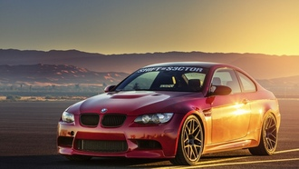 rims, автомобили, BMW M3 E92, tuning, диски, desert, sunset, tuned, тюнинг, пустыни, cars, настроенная, закат