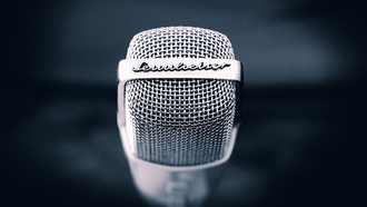 blue, фон, backgrounds, микрофоны, синий, microphones