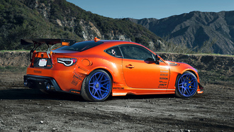 scion, widebody, Toyota, rims, style, fr-s, mountain, 86, tuning, wheels, orange, spoilers