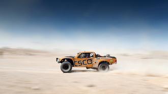 blur, motion, offroad, competition, car, orange, sky, desert, desert race, Mint 400, team