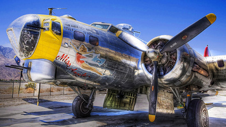 flying fortress, b-17, боинг, Самолет, крепость, летающая