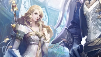 элийцы, fire, elf, game wallpapers, girl, magic, Aion the tower of eternity, эльф